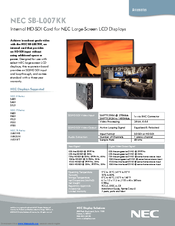 NEC MultiSync S521 Specifications