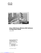 Cisco 3200 Series Software Configuration Manual