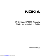 Nokia IP1220 - Security Appliance Installation Manual
