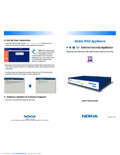 Nokia IP60 - Security Appliance Quick Setup Manual