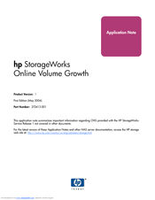 HP 345646-001 - StorageWorks NAS 2000s External Storage Server Application Note