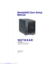 netgear rnd2110 readynas duo nas server setup manual pdf download rh manualslib com Netgear ReadyNAS 2120 netgear nas 1100 manual