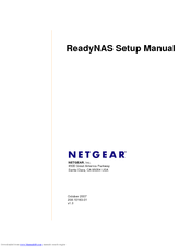NETGEAR RND4000 - READYNAS NV+ NAS SERVER SETUP MANUAL Pdf