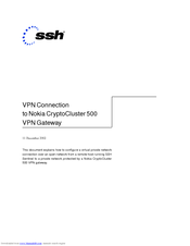 Nokia CC500 - VPN - Gateway Connection Manual