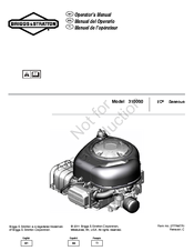 GE 310000 I/C Gaseous Operator's Manual