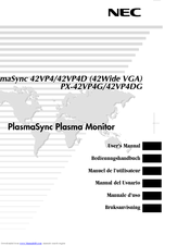 NEC PlasmaSync 42VP4D User Manual