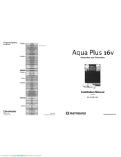 Hayward Aqua Plus Controls Plus Chlorination Manuals