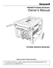 honeywell hw portable generator  manuals