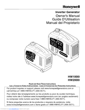 Honeywell HW1000i - Portable Inverter Generator Owner's Manual