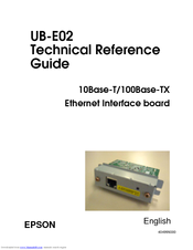 Epson C32C824151 - UB E02 Print Server Technical Reference Manual