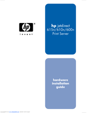 HP 615N - JetDirect Print Server Hardware Installation Manual