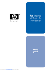HP J7934A - JetDirect 620n Print Server Setup Manual