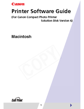 Canon 0324B001 - SELPHY ES1 Photo Printer Software Manual
