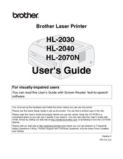 Brother HL 2030 User Manual