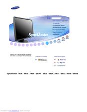 Samsung 940N  SyncMaster  19  LCD Monitor Manuals