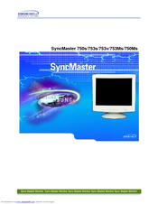 Samsung SyncMaster 750Ms Manual Del Usuario