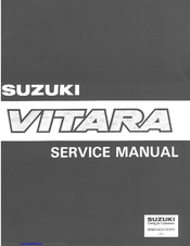 suzuki vitara service manual pdf download rh manualslib com 2000 Suzuki Grand Vitara Repair Manual 2009 Suzuki Grand Vitara Repair Manual