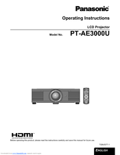 panasonic ae3000u lcd projector hd 1080p operating instructions rh manualslib com projetor panasonic pt ax200u manual Panasonic Technical Support