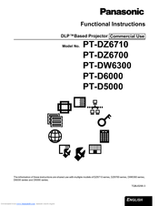 Panasonic DLP PT-DW6300 Functional Instructions