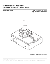 Epson ELPMBPJF Universal Projector Ceiling Mount Manuals