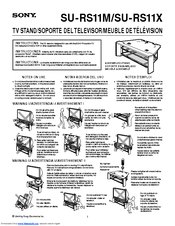 Sony SU-RS11X Instructions Manual
