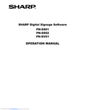 Sharp PN-E421 Operation Manual