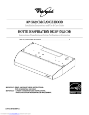Whirlpool GXU7130DXQ Installation Instructions And Use And Care Manual