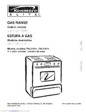 kenmore 3103 elite 30 in slide in gas range manuals rh manualslib com Kenmore Model 790 Electric Range Kenmore Dryer