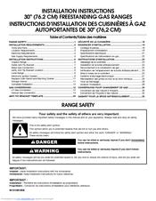 whirlpool gas range installation instructions