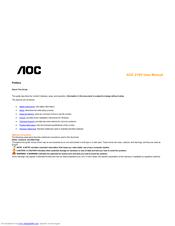 DOWNLOAD DRIVER: AOC 210V