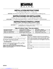 Kenmore 4542 23.1 Installation Instructions Manual