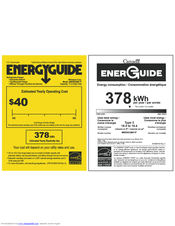 Maytag M8RXEGMAW Energy Manual