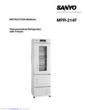 Sanyo mpr-214f - Commercial Solutions Refrigerator Instruction Manual