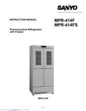 Sanyo MPR-414F - Commercial Solutions Refrigerator Instruction Manual