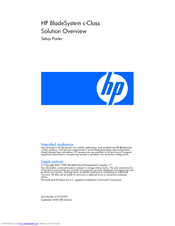 HP 3020 - Cisco Catalyst Blade Switch Setup Poster