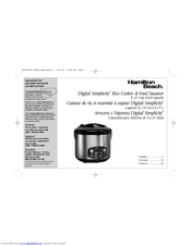 hamilton beach digital simplicity 37536 manuals rh manualslib com Hamilton Beach Rice Cooker Manual 37548 hamilton beach rice cooker manual 37536