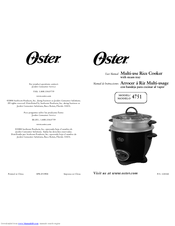 Oster 4751 User Manual