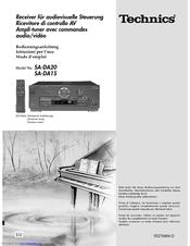 TECHNICS SA-DA15 Manual