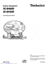 Technics SC-EH600 Manuals