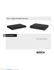 Bosch Divar 2 Installation Manual