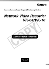 Canon VB-C300 Administrator's Manual