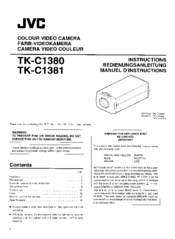 JVC TK-C1381 Instructions Manual