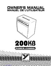 YORKVILLE 200KB Power Combo Service Manual YORKVILLE
