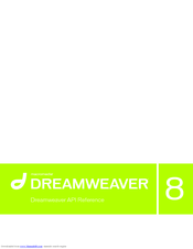 Macromedia Dreamweaver 8 Dreamweaver Api Manuals