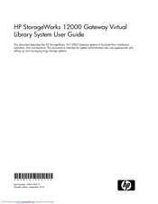 HP StorageWorks 12000 User Manual