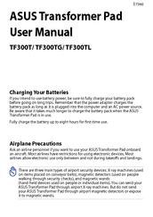 Asus Transformer Pad Tf300tg Manuals Manualslib