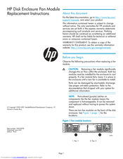HP 6400/8400 Replacement Instructions