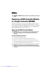 Dell PowerVault MD3000i Replacement Manual