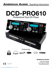 AMERICAN AUDIO DCD-PRO610 MKII Operating Instructions Manual