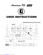 AMERICAN AUDIO Q-2422 - AUTRE User Instructions